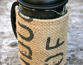 Burlap French Press Cozy - Insulated