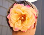 Rose Hair Piece, Real Touch Petels