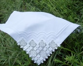 4 Piece Lace Cloth Napkins