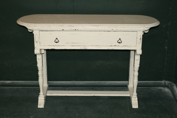 Rustic Veranda Ivory Console Table
