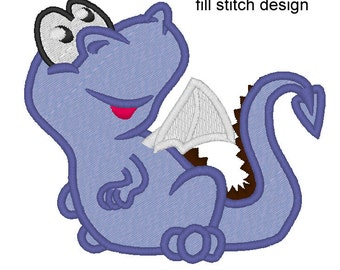 Lil dragon baby - machine embroidery applique and fill stitch designs INSTANT DOWNLOAD 4x4, 5x7 and 6x10