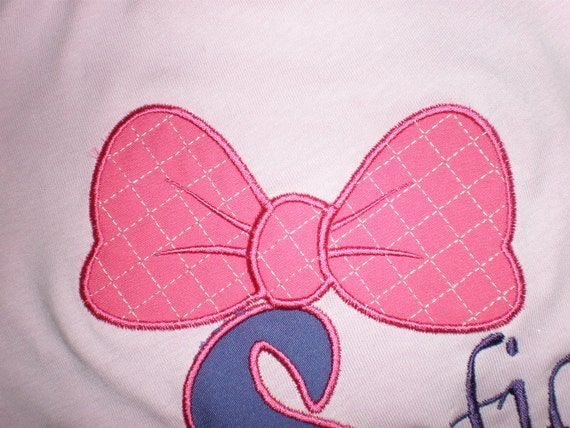 Minnie Bow - machine embroidery applique and fill stitch design - 1, 1 1/2, 2, 3, 4, 5 and 6 inches