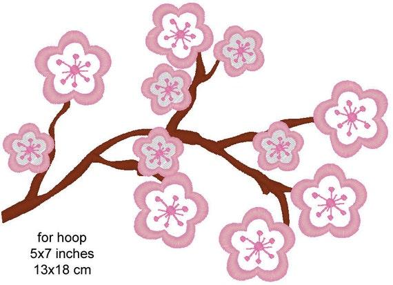 Cherry Blossom Uses Everywhere Machine Embroidery By Artapli