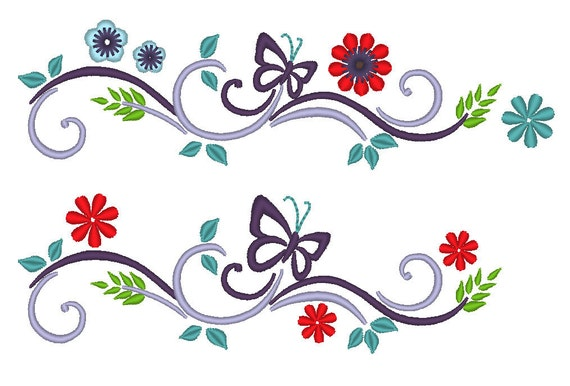 floral, frame, Font Frame, Decoration, Personalisation - machine embroidery designs, download - for 4x4, 5x7, 6x10
