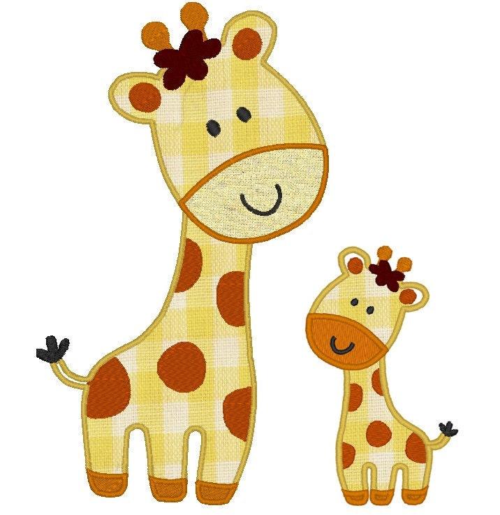 Wild Animal Giraffe Machine Embroidery Applique Designs