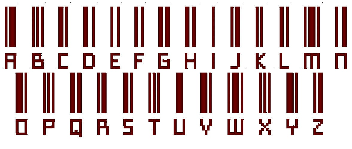 bar code font machine embroidery designs barcode alphabet