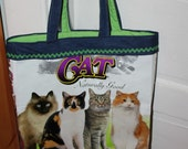 Naturally Good Cat tote: upcycled recycled repurposed pet food bag