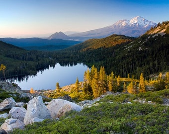 """Mt. Shasta and Castle Lake - """"Rugged Reflections"""""""
