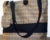 ON SALE . . . Quilted Shoulder Bag - Brown and Black - OOAK