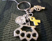Store Closing Sale- Military Themed Keychain - brass knuckles