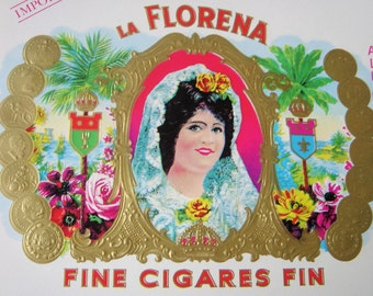 Vintage La Florena Cigar Box Labels-NOS
