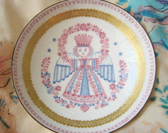 Vintage Austrian Porcelain Dish-Angel
