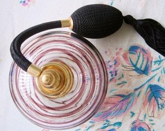 Vintage Murano Glass Perfume Bottle Atomizer