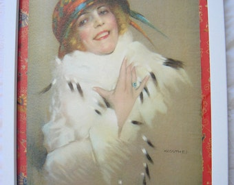 1939 Framed Kossuth Art Deco Girl