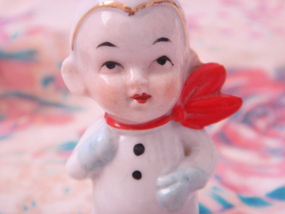 1930's Porcelain Figure-Snow Day Boy