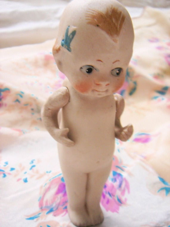 Antique Bisque Kewpie Doll with Bows