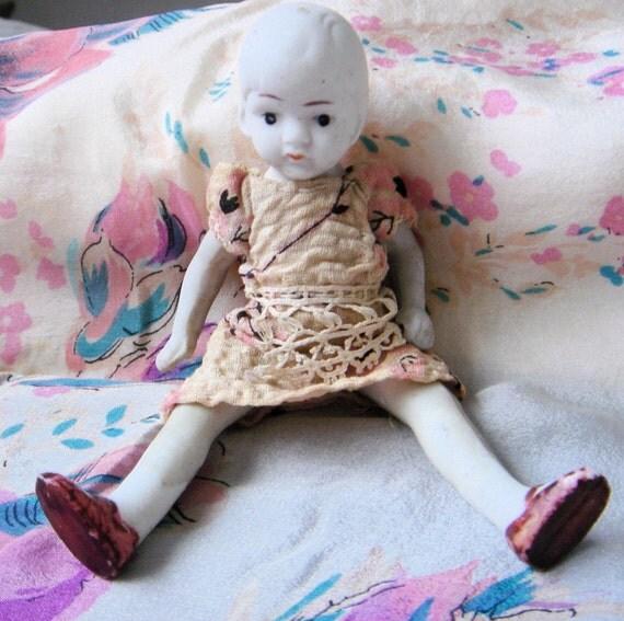 Vintage 1920's Bisque Doll-Paige Bob Baby