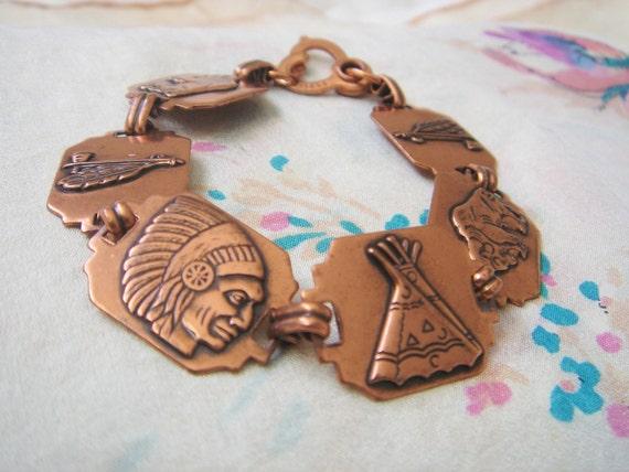 70's Copper Native American Bracelet