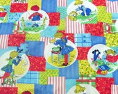 Vintage Children's Curtain Panels - Boy and Girl Adventures - Durable Fabric