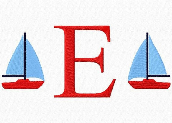 Summer Children's / Boys / Baby Monogrammed Sailboat Boat Shirt or Onesie for 4th of July or Beach