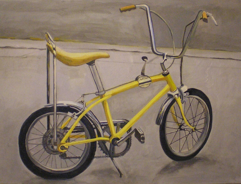 Yellow 1970s Vintage Scwinn Stingray Bicycle Original Oil