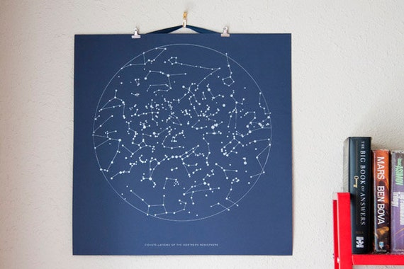 HALF OFF- Screenprint poster Constellations of the Northern Hemisphere