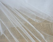 White Lace Fabric Veil Lace Tulle Gauze 59 Inches Wide 1 Yard For Dress Veil Custom Headwear Supplies