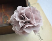 Light Purple Chiffon Flowers 2.55 Inches Wide For  Costume Headware Corsage Supplies 2pcs