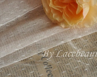 Khaki Lace Fabric Little Dots Veil Lace Tulle Gauze 61 Inches Wide 1 Yard For Dress Veil CostumeHeadwear Supplies