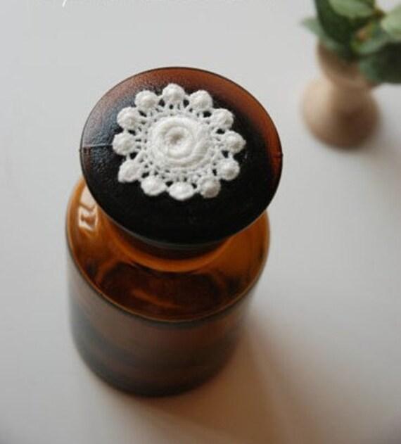 Vintage White Cotton Flower Lace Appliques 4pcs