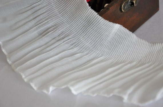White Soft Tulle Elastic Lace Trims 3.54 Inches Wide 2 yards