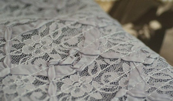 Grey Lace Fabric With Ribbon 45 Inches Wide 1 Meter For Dress Veil Costume Headwear Supplies