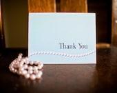 CUSTOM ORDER - RESERVED for Melissa - Elegant Pearls - Thank You Cards - Set of 24 - Blank Inside