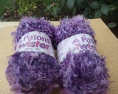 Feather and Chenille Yarn Patons Purple Twister,  2 skeins