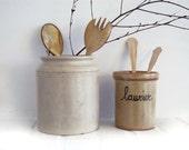 Vintage handmade french pottery jar
