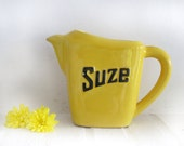 French ceramic Water pitcher, Suze, french bistro style, yellow sunshine