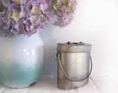Circa 1920 , Antique French  Lunch Pail in aluminium