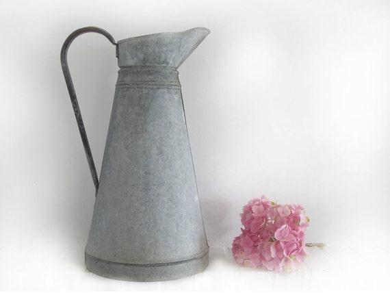 french LARGE metal jug