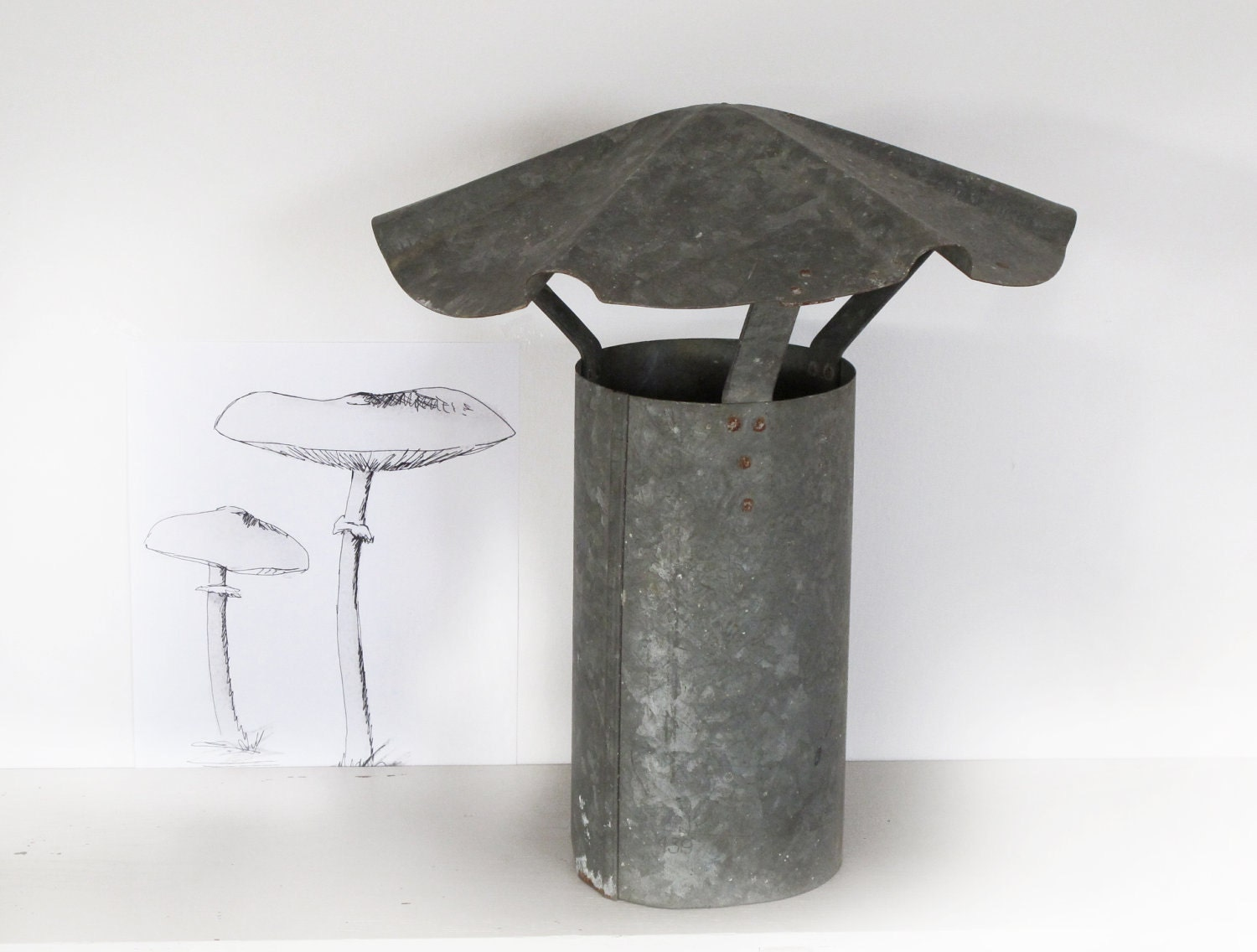French Chimney Caps : Reserved old french chimney cap galvanized metal so parisian