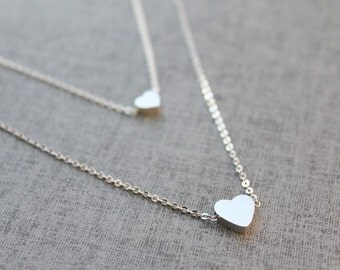Heart double layers Necklace - S2045-1
