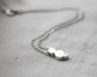 Cute Cat  Necklace - S2064-1