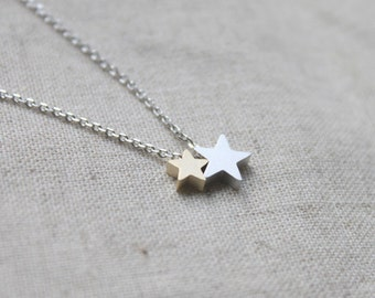 Cute Two Star charm Necklace - S2206-1