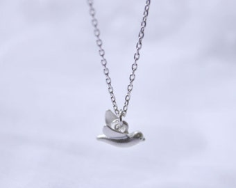 Lovely tiny bird charm chain necklace - 2248-1