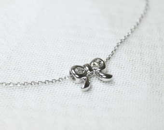 Cute Ribbon Necklace - S2261-1