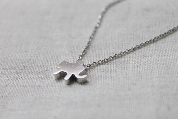 Cute elephant  Necklace - S2091-1