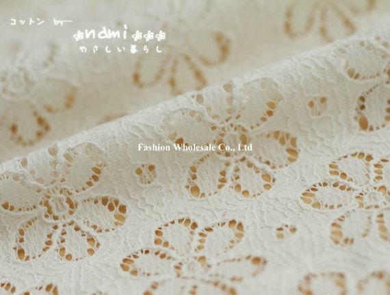 Japanese Crochet Cotton Terylene Blended Fabric - Flora