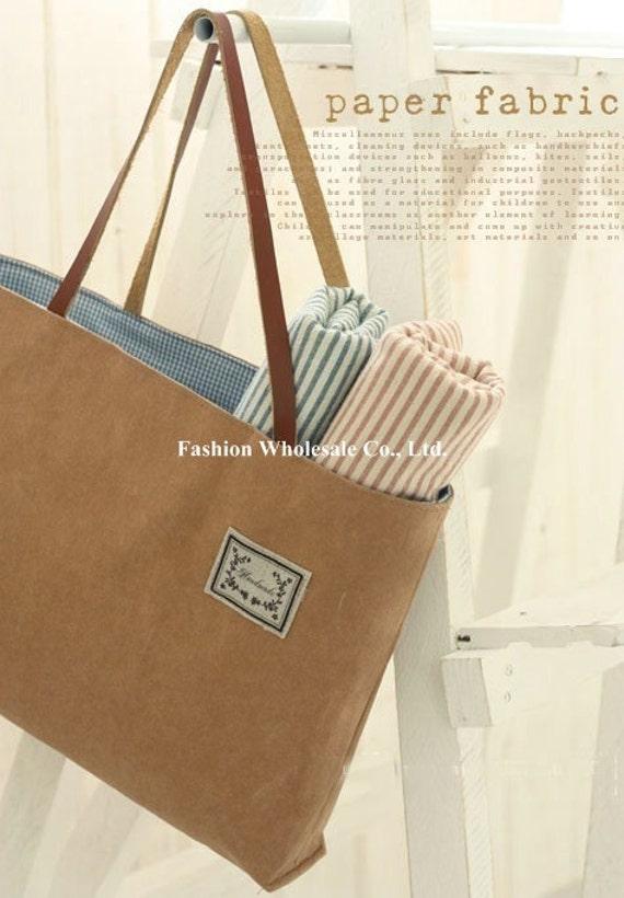 Half Yard - Japanese Natural Kraft Paper Fabric - Brown