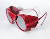 Vintage Tortoise Steampunk Sunglasses Glossy Lust Red/ Mirror by Polaroid . Coupons Apply.