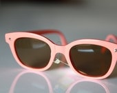Vintage Wayfarer Sunglasses Light Coral/ Chrome by Polaroid .  REDUCED. Gift Certificates Apply
