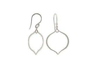 Silver Earring Findings 36x20mm Fancy Ear wires - 1pair (2865)
